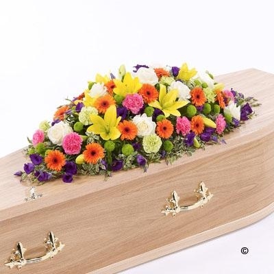 Vibrant Casket Spray *